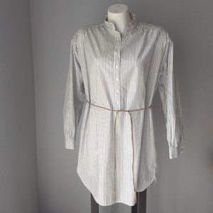 H&M Black Striped Shirtdress, NWT